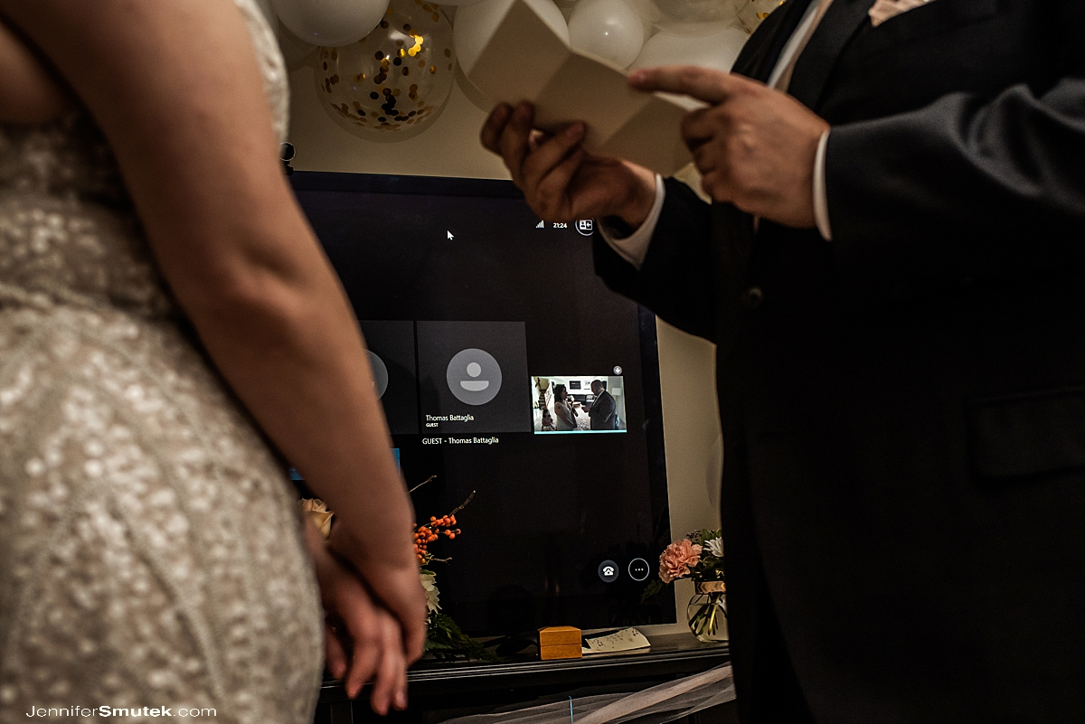 virtual wedding ceremony from home