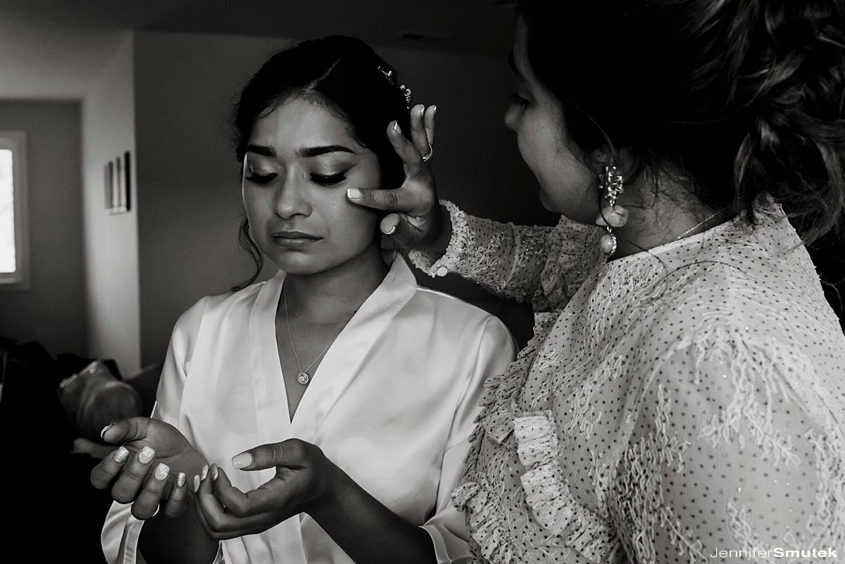 mother wiping brides tear Marcela & Mauricio | Maryland Micro Wedding