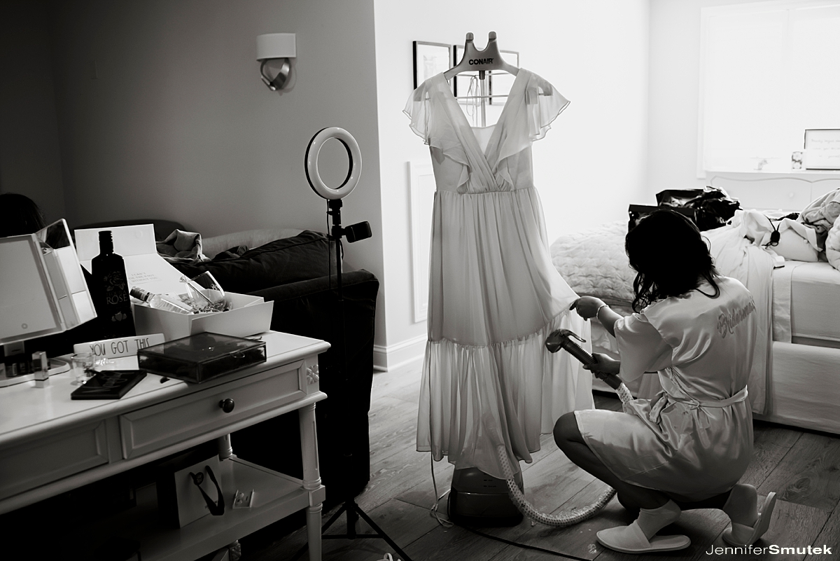 steaming bridesmaid dresses