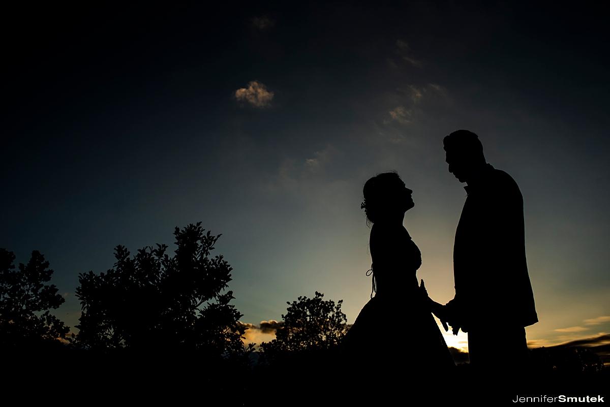 sunset Marcela & Mauricio | Maryland Micro Wedding
