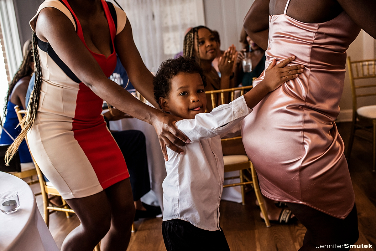 little boy in a conga line Titus Touch Music