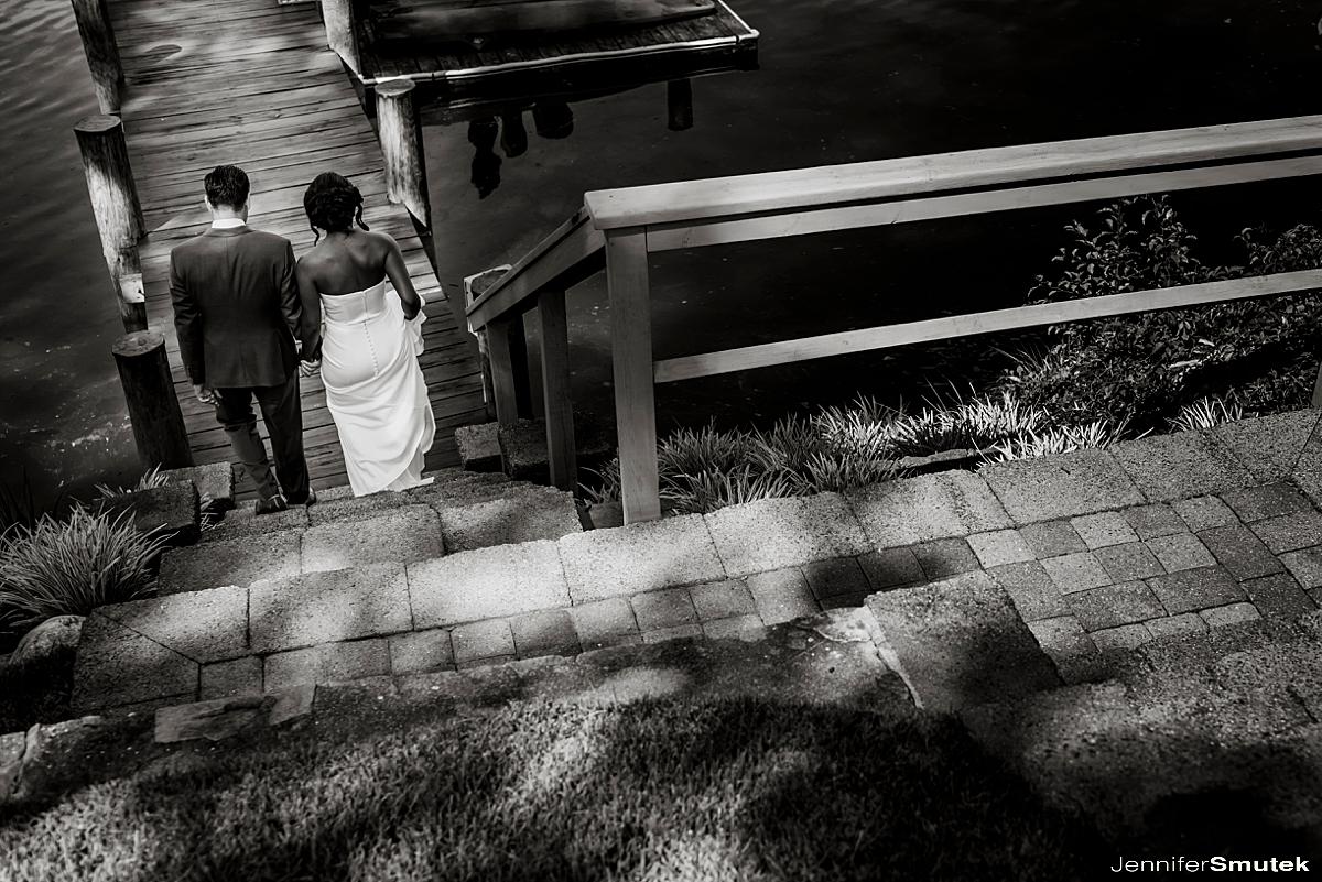 bride and groom on maryland wedding day
