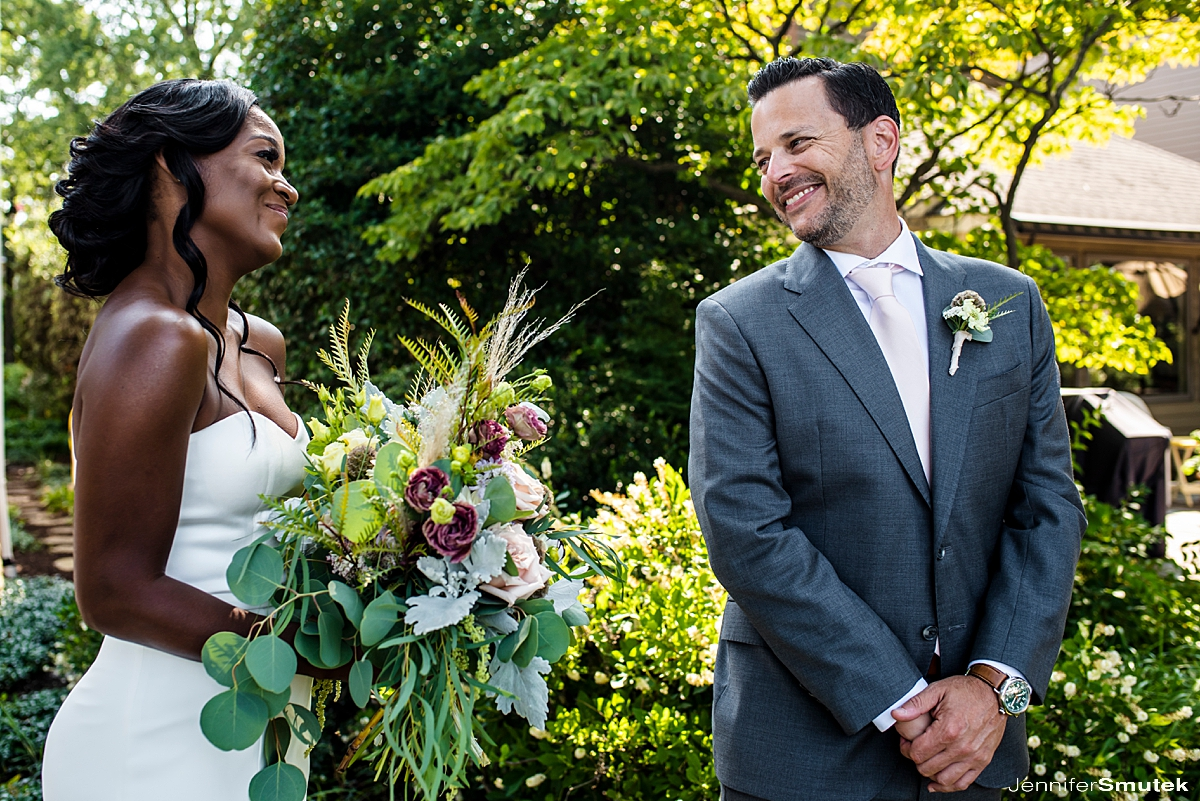 first look micro wedding in maryland