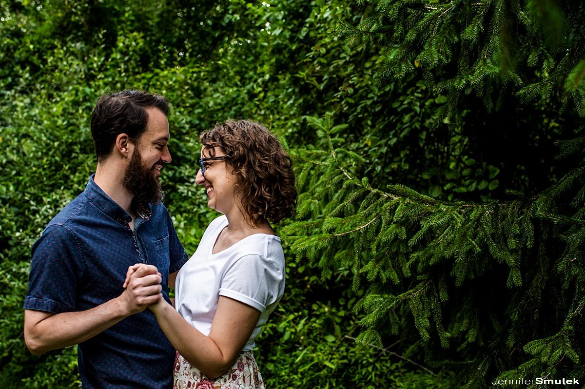 centennial park engagement session