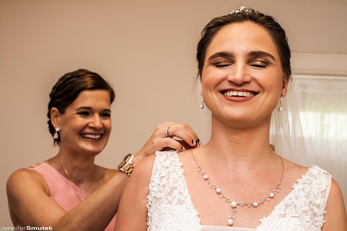 Bride getting ready Overhills Mansion Micro Wedding