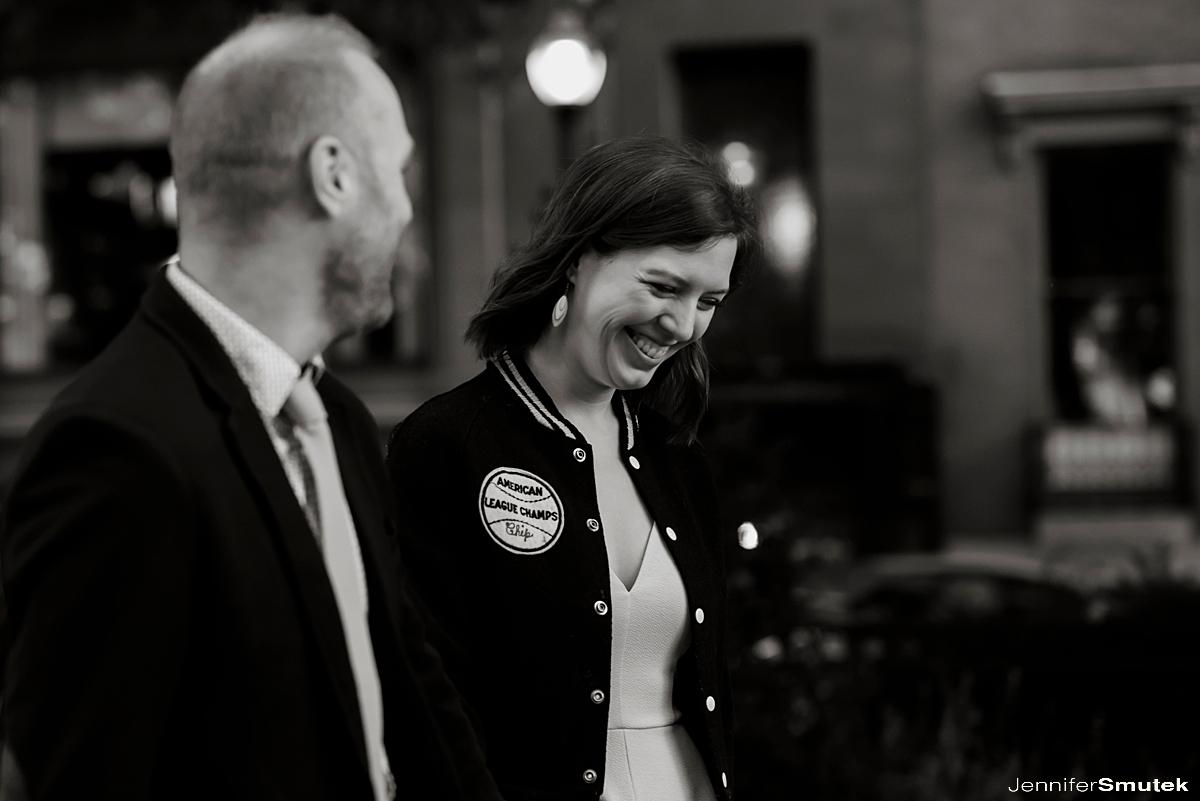 couple laughing sunrise mt. vernon engagement session