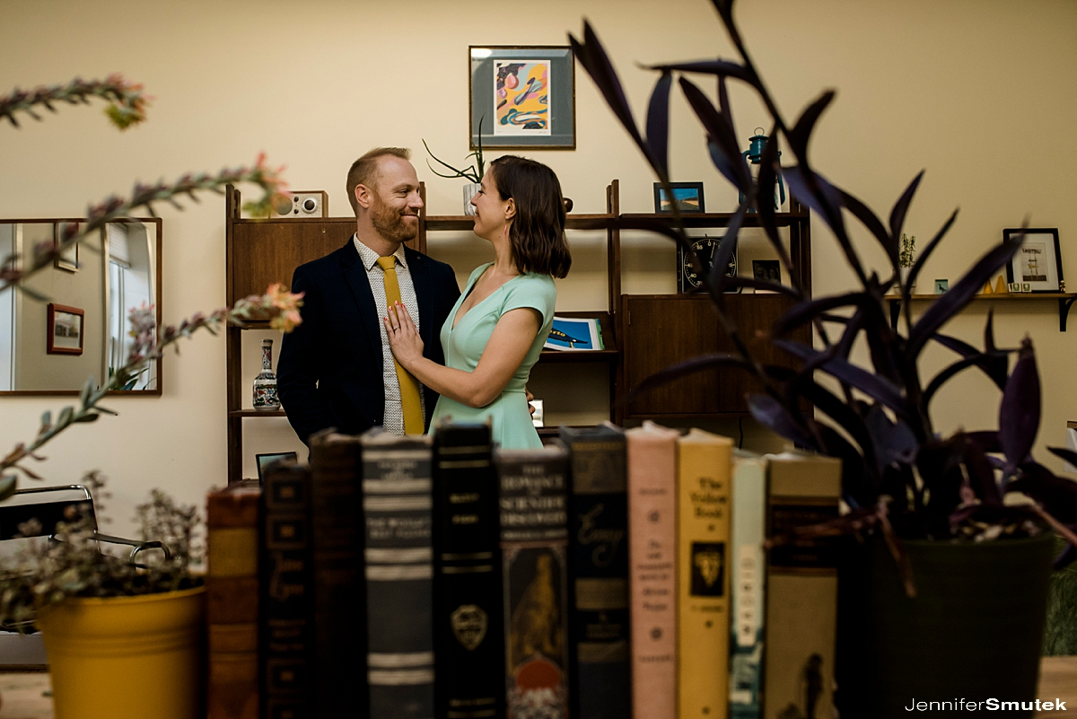 couple in their baltimore city apartment